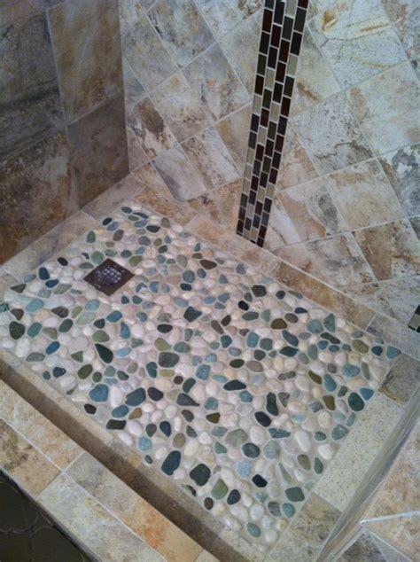glazed sea green and white pebble tile pebble tile shop