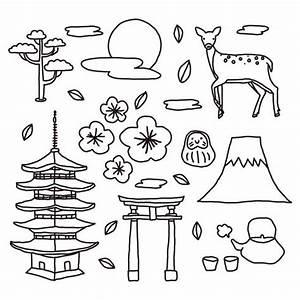 Japanese Elements Doodles Download Free Vector Art
