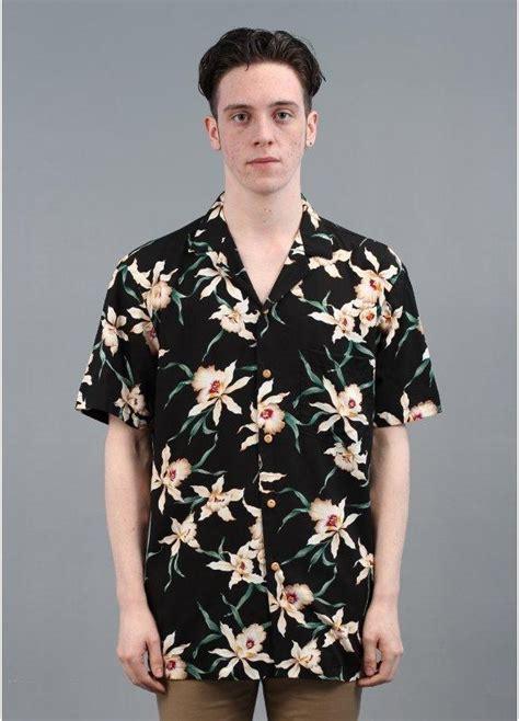 Paradise Found Bamboo Paradise Hawaiian Shirt Black   Triads