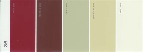 martha stewart paint 5 color palette card 36 thelandofcolor