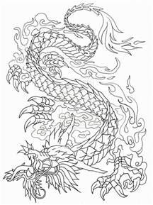 Dragon Tattoo Outline Designs