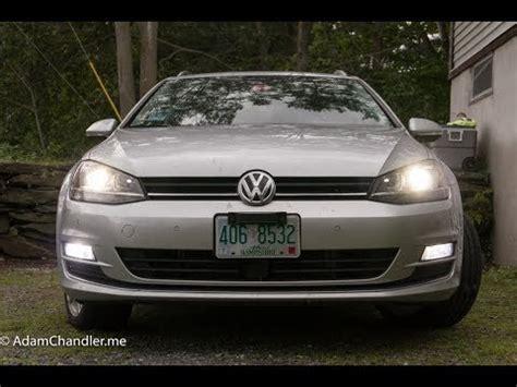 golf sportwagen led fog light kit deautoled youtube