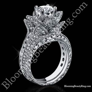 208 ctw large hand engraved blooming beauty wedding ring With wedding bands for large engagement rings