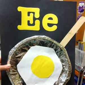 Letter E Preschool Egg Crafts