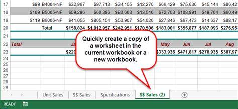 copy  move  worksheet   workbook  excel