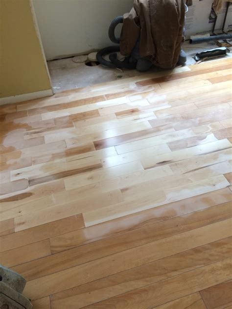 kitchen floor replacement kitchen progress staining hardwood floors burger 1667