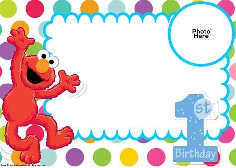 sesame street st birthday invitation template elmo