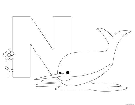 printable animal alphabet letter    nurse shark