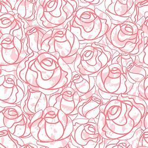 Seamless roses bud outline pattern, 18940, Backgrounds ...