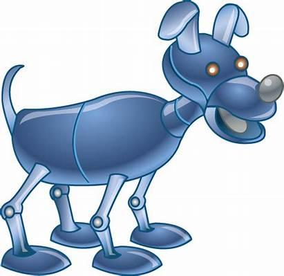 Robot Clipart Dog Teal Clip Cliparts Transparent