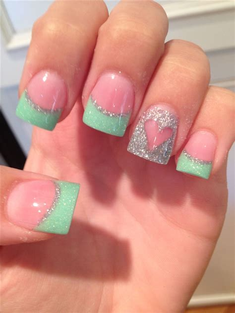 teal color nails best 20 mint acrylic nails ideas on ongles