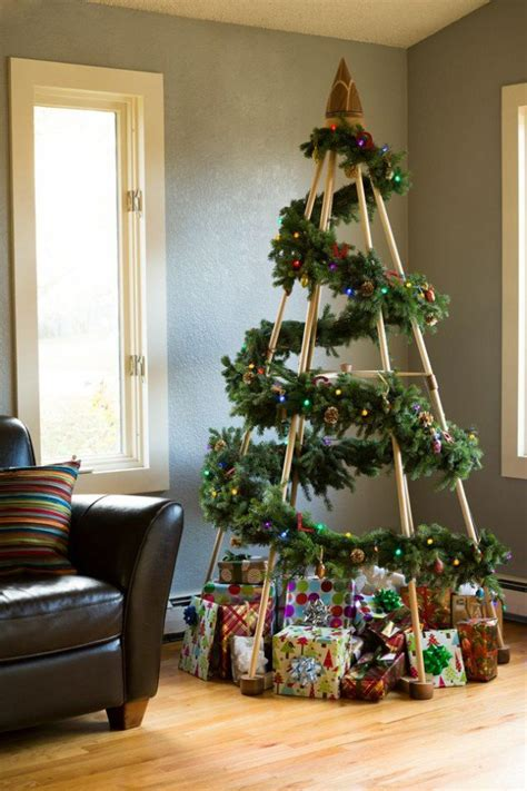 unique diy christmas tree ideas  projects