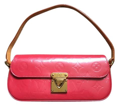 louis vuitton monogram pink patent leather shoulder bag