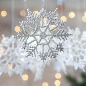 white snowflake ornaments ornaments and winter crafts