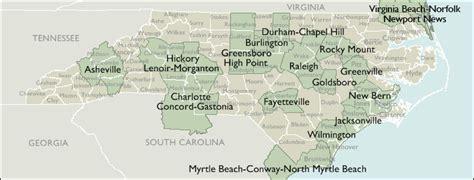North Carolina Metro Area Zip Code Wall Maps