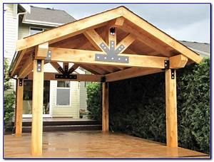 Free standing wood patio cover kits patios home for Free standing wood patio covers