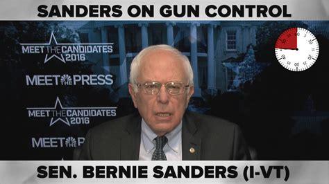 bernie sanders compressed gun control  black lives