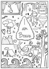 Coloring Brave Confident Printable Sheets Hopscotch Books Activities Journal Bullet Printables Strong Asher Crafts Doodle Drawings Teen Bebe Easy Fall sketch template