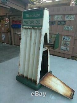 double sided vintage oil  display rack