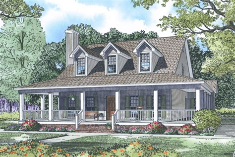 Country Style House Plan  4 Beds 3 Baths 2039 Sqft Plan