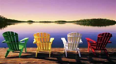 muskoka chairs canvas print canvas art  john bartosik