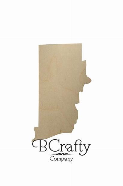 State Island Rhode Shape Wooden Cutout South