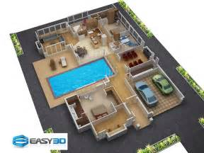 2 story floor plans with garage 3d floor plans for new homes architectural house plan