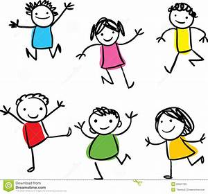 Happy Kids Clipart Black And White | Clipart Panda - Free ...