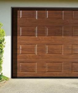 porte de garage sectionnelle couleur bois With couleur de porte de garage