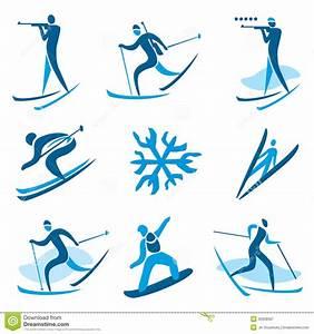 De Symbolen Van De De Wintersport Vector Illustratie ...