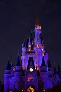 Disney Musings: Wordless Wednesday: Cinderella Castle at Night