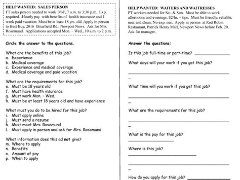 newspaper english worksheets