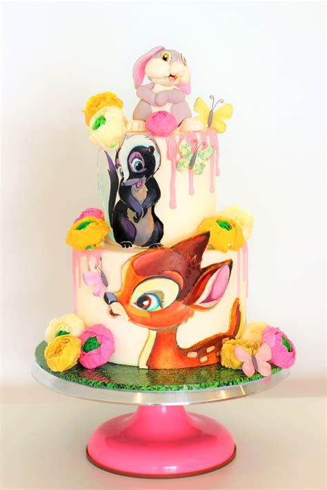 bambi flower thumper cake yummytologycom