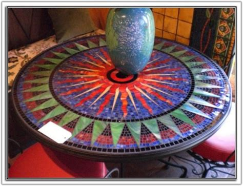 mosaic tile table top ideas tiles home decorating