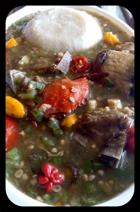 banku okro soup stew oats recipe ingredients