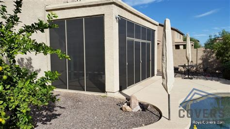 Stucco Patio Cover With Screen Room