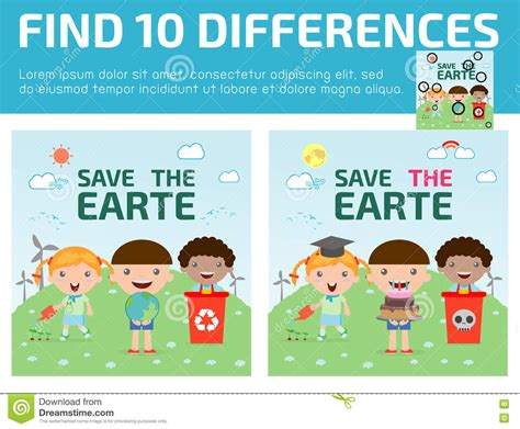 find differences for find differences brain 821 | find differences game kids find differences brain games children game educational preschool vector 73233738