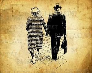 Hand In Hand Gehen : altes paar liebe gehen hand in hand clipart lineart abbildung ~ Markanthonyermac.com Haus und Dekorationen