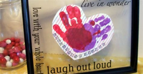 preschool valentines craft handprint heart  inspiredmama