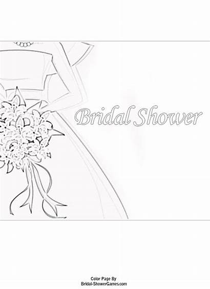 Bridal Shower Printable Coloring Pages Games Fun