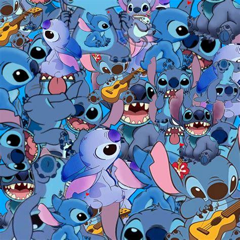 freetoedit wallpaper stitch blue art interesting cartoo