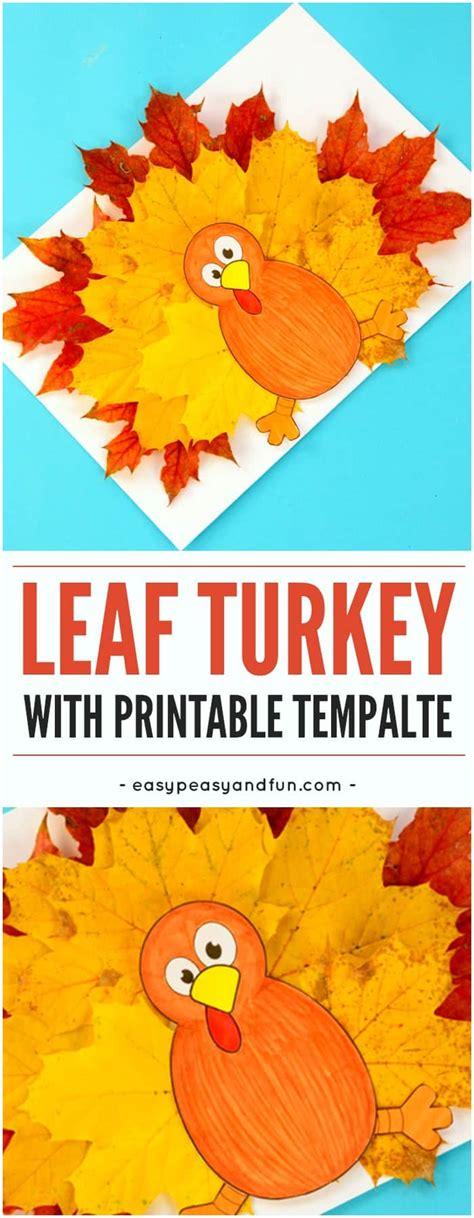 turkey leaf craft template easy peasy  fun