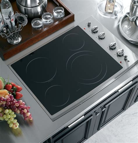 ge electric cooktop ge profile series 30 quot built in electric cooktop
