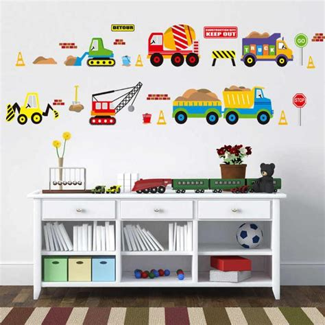 modern wall decorations  car fans masculine theme ideas