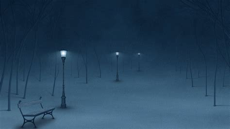 Winter Street Lamps / 1920 X 1080 / Fantasy / Photography