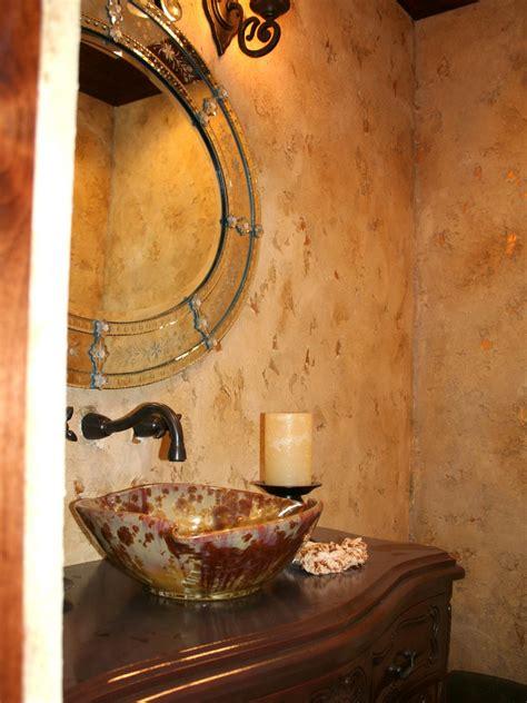 venetian plaster finish rustic bathroom decor ideas pictures tips from hgtv hgtv