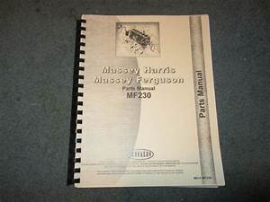 Massey Ferguson 230 Jensales Parts Manual Mh