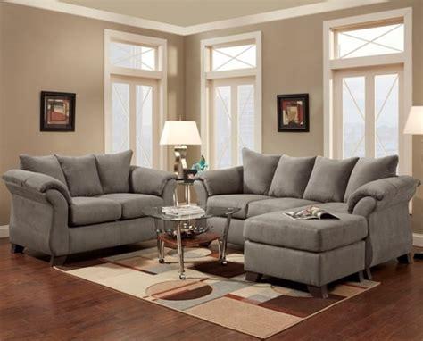Sofa Loveseat And Chaise Set by Sesations Grey Sofa Chaise 6800greysc Living Room Sets