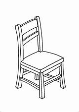 Chair Wooden Coloring Furniture Printable Additions Newest Freeprintablecoloringpages sketch template