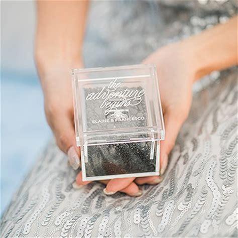 acrylic wedding ring box the knot shop